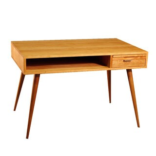Wood Revival Mid Century Natural Desk