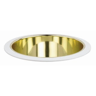 Raptor Lighting 8-inch Recessed Trim Compact Fluorescent Gold Reflector Horizontal Lamp