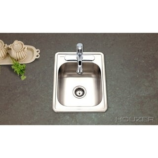 Houzer Hospitality Topmount 17 x 22 x 6.5-inch Large Bar/ Prep Sink