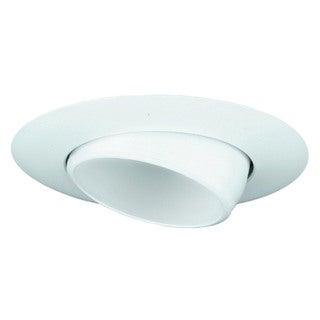 6-inch Sloped Recessed Trim White Eye Ball/ White Baffle BR30/ PAR30 Ceiling Light