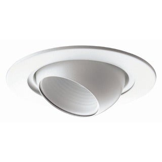 6-inch Recessed Trim White Eye Ball/ White Baffle BR30/ PAR30