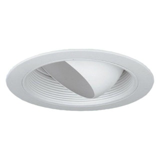 6-inch Recessed Trim Regressed White Eye Ball/ White Baffle BR30/ PAR30