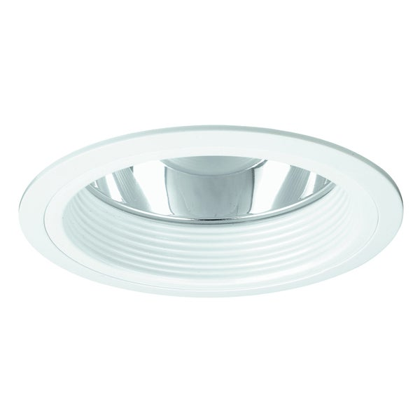Raptor Lighting 6-inch Recessed Trim Compact Fluorescent Clear Reflector White Baffle Vertical Lamp