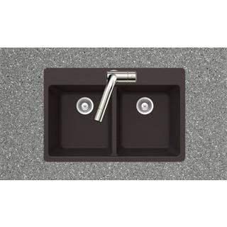Houzer Alive Series Chocolate Topmount 50/50 Double Bowl