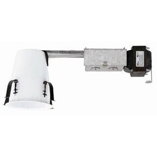Raptor Lighting 4-inch Remodel Housing Non-insulated Ceiling Low Voltage Enclosed Housing Steel (Case Pack of 4 Units)