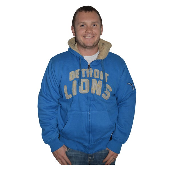 Detroit Lions NFL Sherpa Hooded Jacket