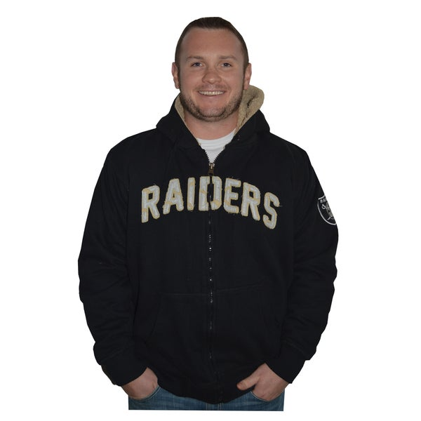 Oakland Raiders NFL Sherpa Hooded Jacket