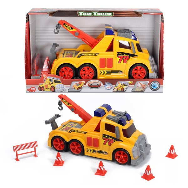 Dickie Toys Action Series Tow Truck and Accessories