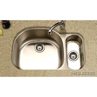 Houzer Medallion Designer 80/20 Small Bowl Left Double Bowl