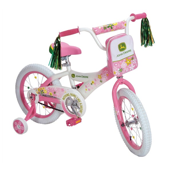 John Deere 16-inch Pink Girls Bike