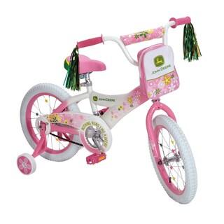 John Deere 16-inch Pink Girls Bike