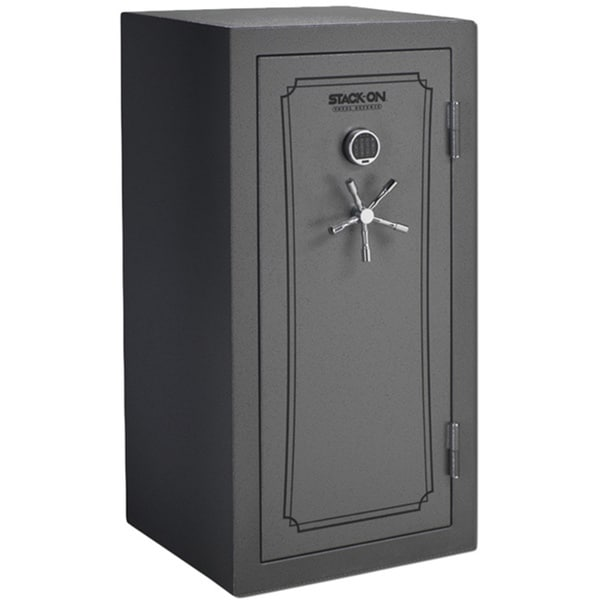 Stack On 28-Gun Electric Lock Safe with Door Storage