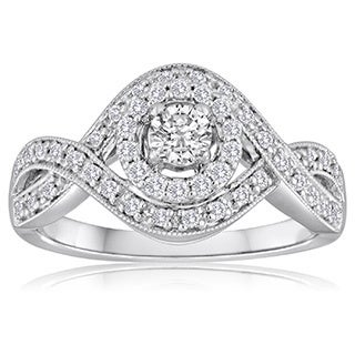 Platinaire Platinum 1/2ct TDW Infinity Diamond Ring (H-I, I2-I3)
