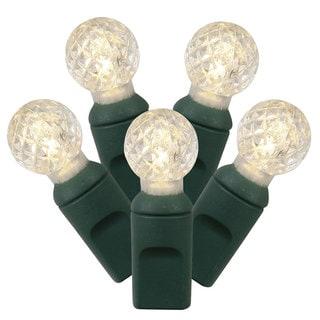 34-foot 100-light Warm White/ Green G12 LED Light Strand
