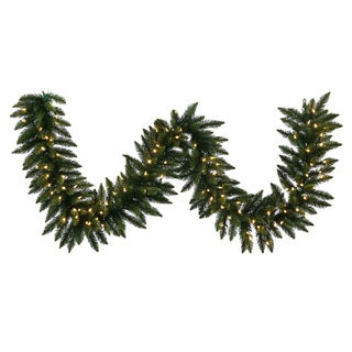 50-foot 1500-tip Camdon Fir Garland with 500 Warm Lights