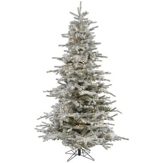 7.5-foot Flocked Sierra Tree with 600 Warm White LED Lights