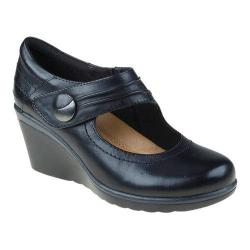 Women's Earth Heron Wedge Black Calf Leather
