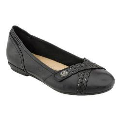 Women's Earth Monarch Flat Black Tumbled Leather