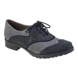 Women's Earthies Berlin Oxford Dark Grey Kid Suede
