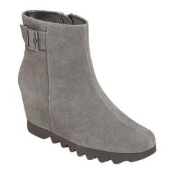 Women's Aerosoles Confidential Suede Wedge Bootie Dark Gray Suede