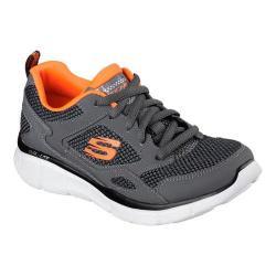 Boys' Skechers Equalizer Game Point Sneaker Gray/Orange