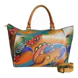 Women's ANNA by Anuschka Hand Painted Large Tote 8066 Paisley Collage