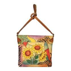 Women's ANNA by Anuschka Medium Convertible Tote 8037 Sunflower Safari