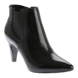 Women's Bandolino Karona Pointed Toe Bootie Black/Black Synthetic
