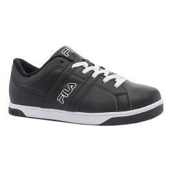 Men's Fila Key West Sneaker Black/White/Metallic Silver