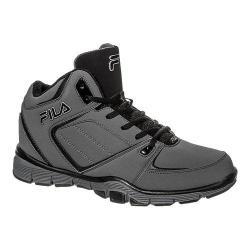 Men's Fila Shake N Bake 3 Basketball Shoe Pewter/Black/Metallic Silver