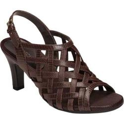 Women's Aerosoles Cowrote Sandal Brown Snake Faux Leather