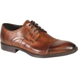 Men's Bacco Bucci 7920-20 Cap Toe Oxford Tan Calfskin