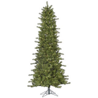 10-foot Slim Ontario Spruce Tree with 950 Warm White LED Lights