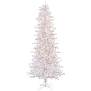 7.5-foot Crystal White Slim Tree with 500 Dura-Lit Clear Lights