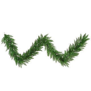 9-foot x 14-inch Tinsel Green Garland 100Gn 250T
