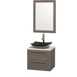 Wyndham collection amare espresso 30 inch single bathroom vanity with - Decolav Eastridge Vanity With Mirror 14369157
