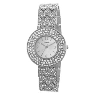 Vernier Paris Women's Triple Row Crystal Bezel & Bracelet Watch