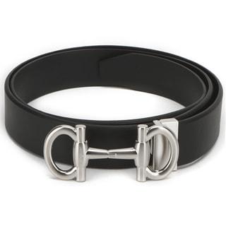 Ferragamo Parigi Size 46 Black Adjustable Men`s Belt