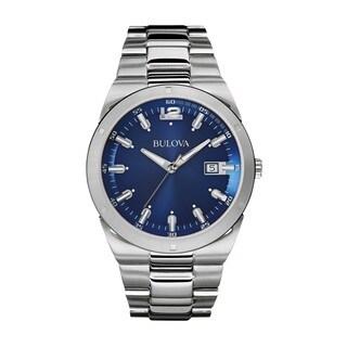 Bulova Men's 96B220 Stainless Steel Blue Dial Watch