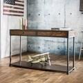 Furniture of America Thorne Antique Oak Industrial Sofa Table