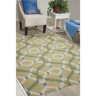 Waverly Sun N' Shade by Nourison Peacock Indoor/Outdoor Rug (10' x 13')