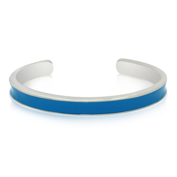 Gioelli Sterling Silver Enamel Cuff Bangle Bracelet