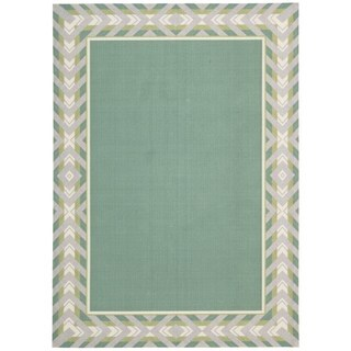 Waverly Sun N' Shade by Nourison Peacock Indoor/Outdoor Rug (7'9 x 10'10)