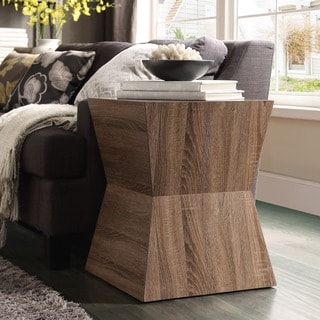Hatteras Staggered Modern Woodblock End Table