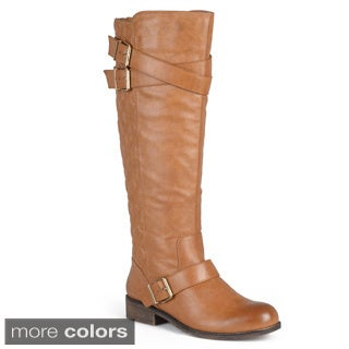 Madden Girl by Steve Madden Women's 'Calinda' Quilted Buckle Strap Riding Boots