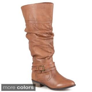 Steve Madden Women's 'Casstro' Buckle Strap Slouch Riding Boots