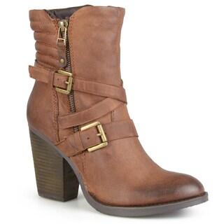 Steve Madden Women's 'Raleighh' Buckle Strap Zipper Detail High Heeled Ankle Boots