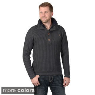 Vance Co. Men's Long Sleeve Button Neck Sweater