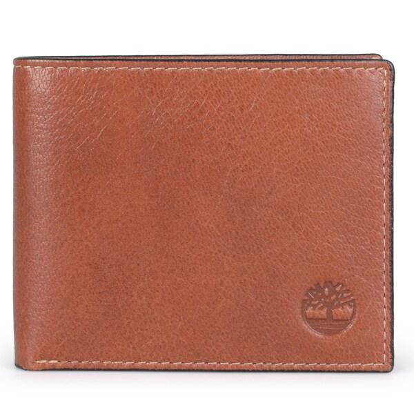Timberland Men's Genuine Leather Passcase Bi-fold Wallet