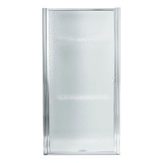 Standard Silver Framed Pivot Shower Door
